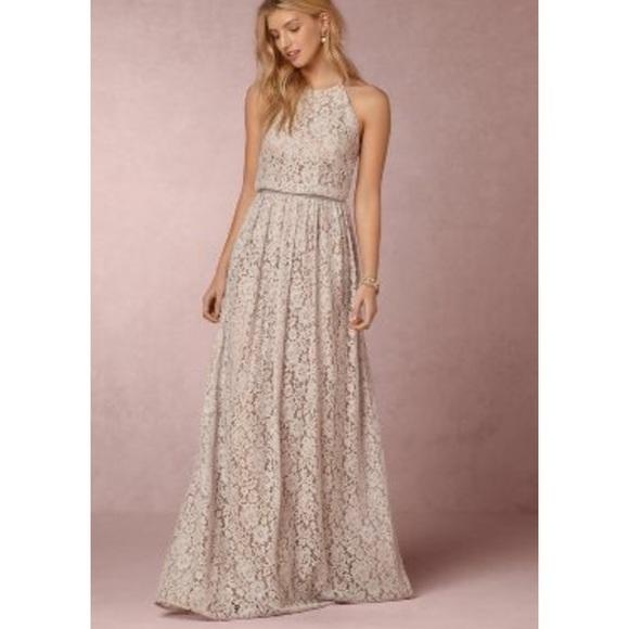 d1695741 Donna Morgan Dresses & Skirts - Like New Bhldn Alana lace light grey dress  ...